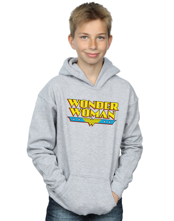DC Comics Boys Wonder Woman Text Logo Hoodie