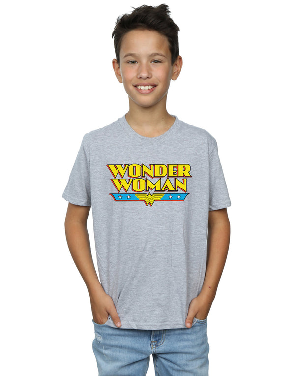 DC Comics Boys Wonder Woman Text Logo T-Shirt
