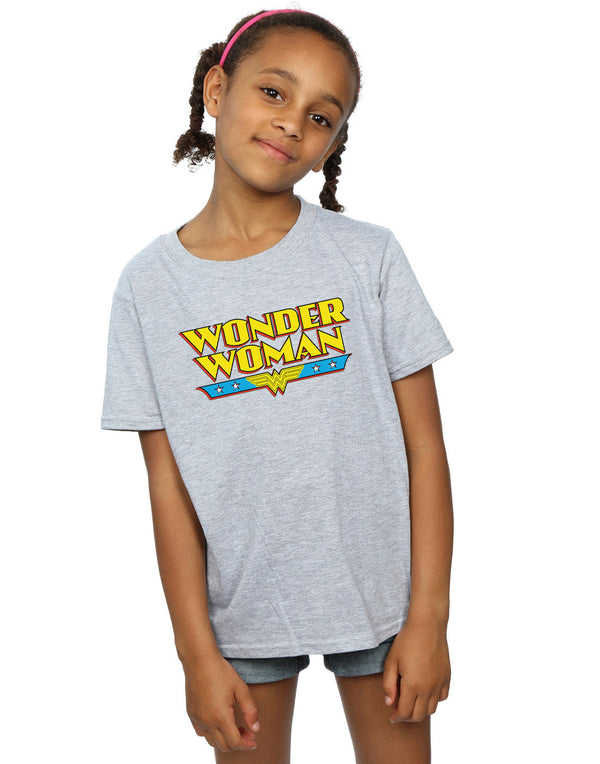 DC Comics Girls Wonder Woman Text Logo T-Shirt