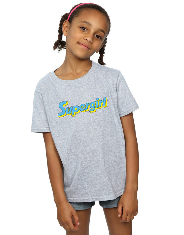 DC Comics Girls Supergirl Text Logo T-Shirt