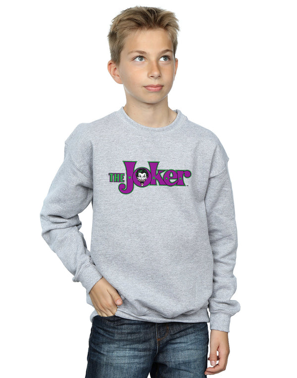 DC Comics Boys The Joker Text Logo Sweatshirt