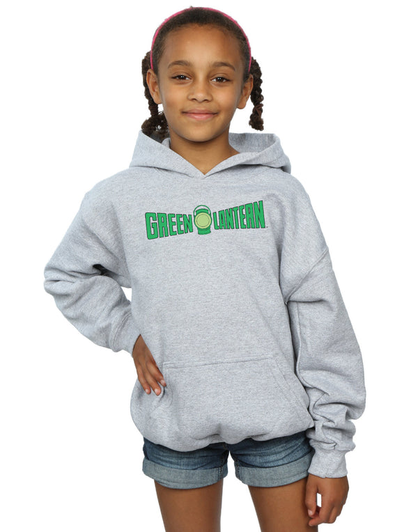 DC Comics Girls Green Lantern Text Logo Hoodie