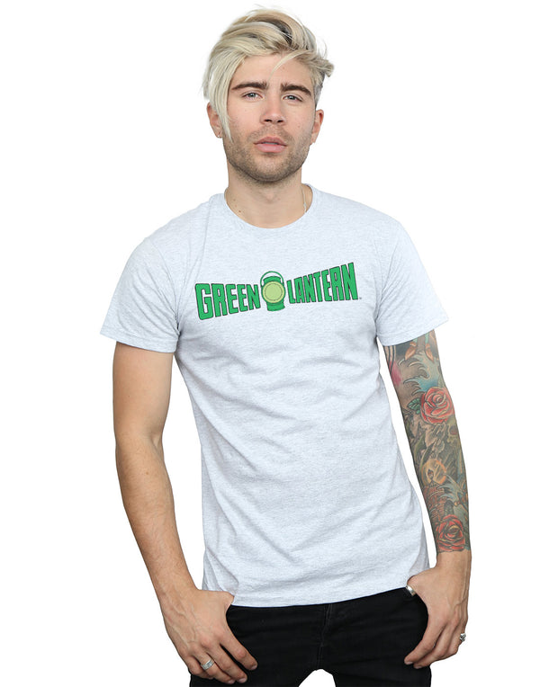 DC Comics Men's Green Lantern Text Logo T-Shirt