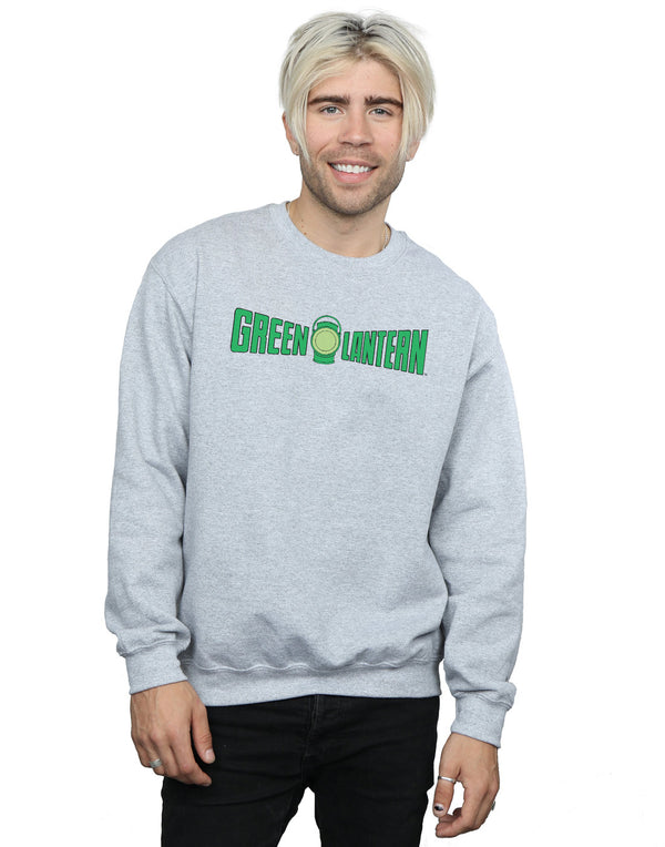 DC Comics Men's Green Lantern Text Logo Sweatshirt