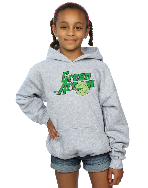 DC Comics Girls Green Arrow Text Logo Hoodie