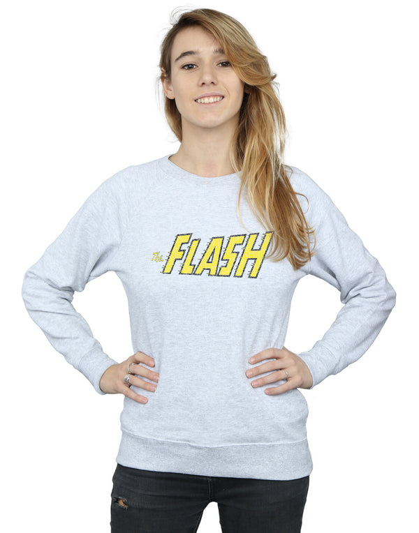 DC Comics Women's Flash Crackle Logo Sweatshirt