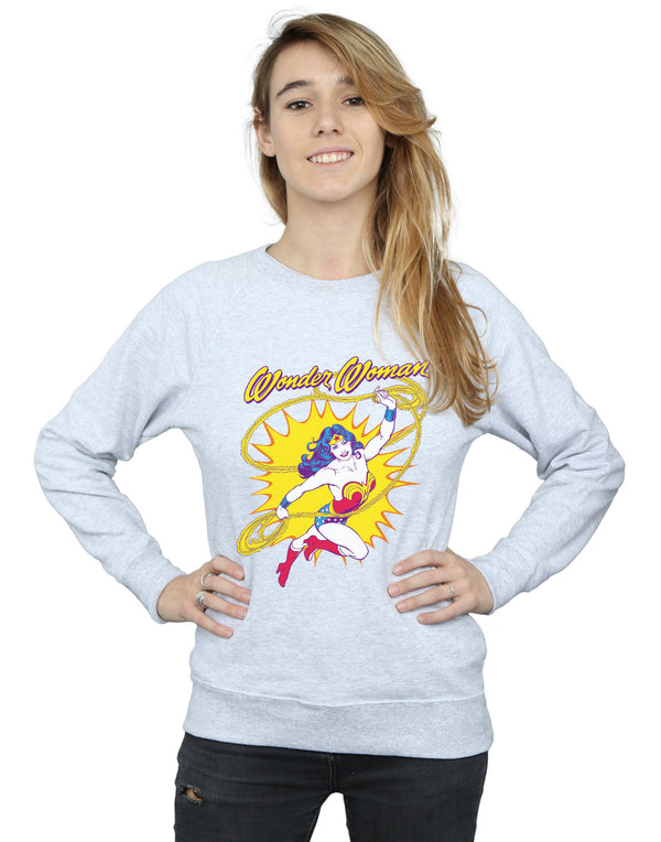 DC Comics Women's Wonder Woman Leap Sweatshirt