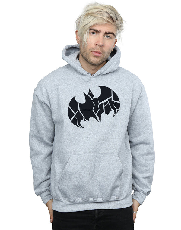 DC Comics Men's Batman One Colour Shield Hoodie