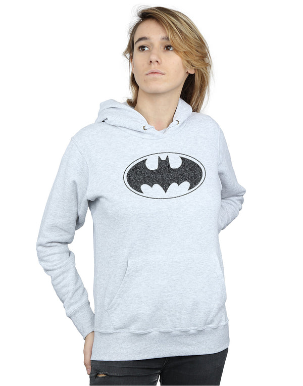DC Comics Women's Batman One Colour Logo Hoodie