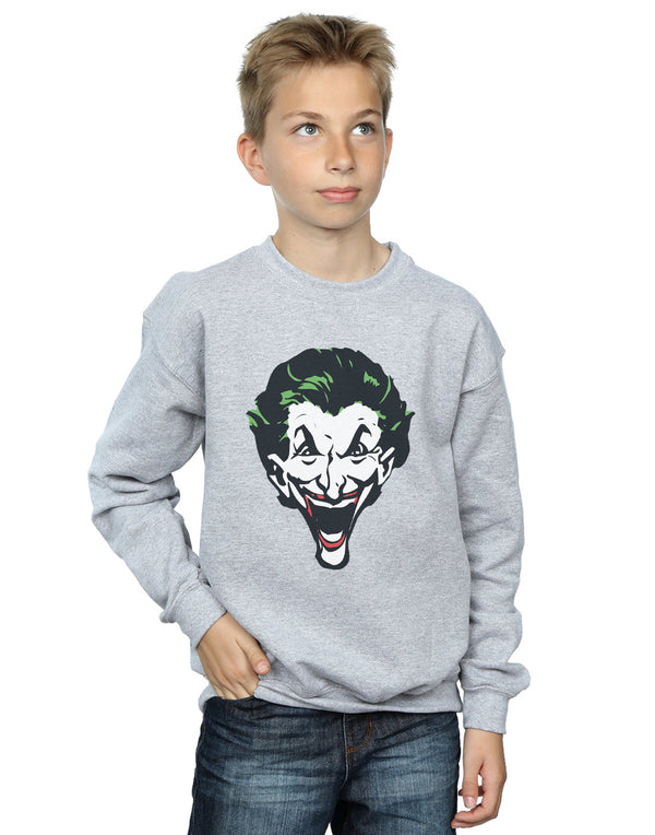 DC Comics Boys The Joker Big Face Sweatshirt