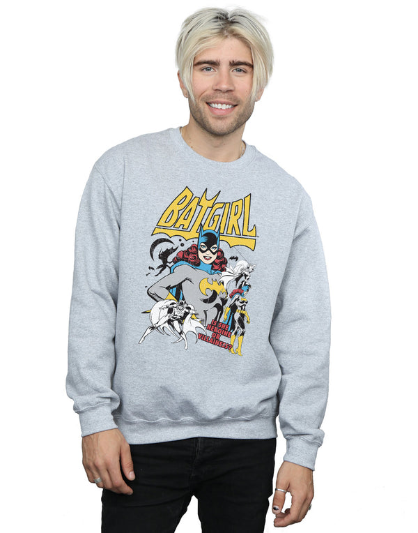 DC Comics Men's Batgirl Heroine or Villainess Sweatshirt