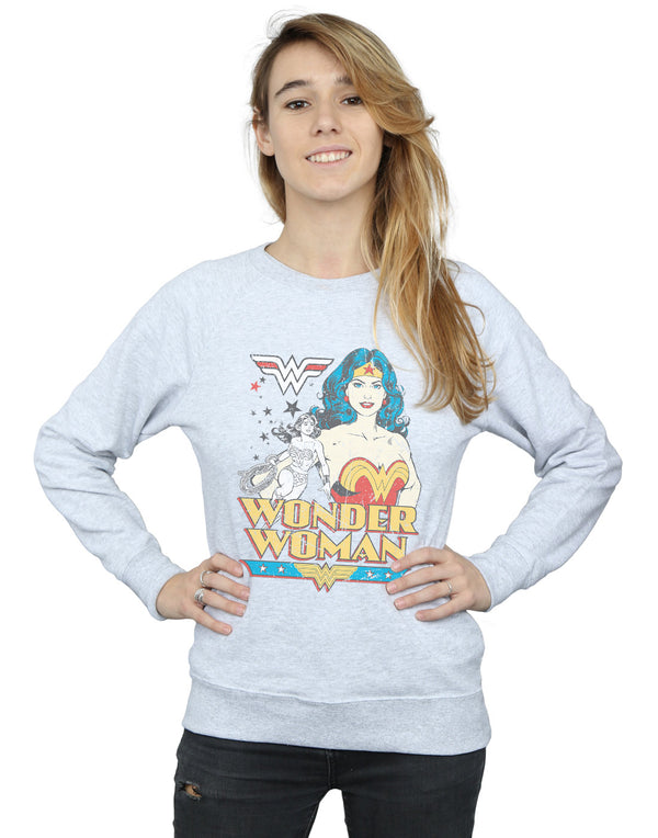 DC Comics Women's Wonder Woman Posing Sweatshirt