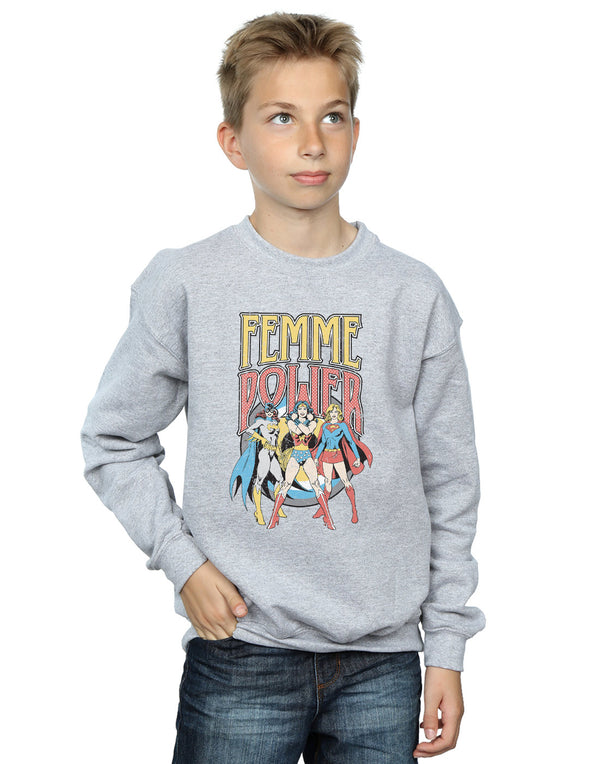 DC Comics Boys Wonder Woman Femme Power Sweatshirt