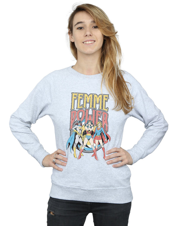 DC Comics Women's Wonder Woman Femme Power Sweatshirt