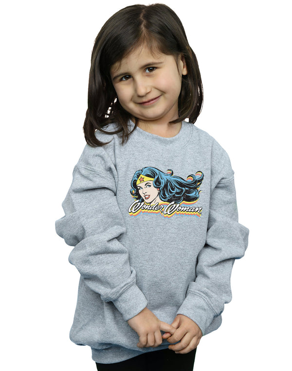 DC Comics Girls Wonder Woman Smile Sweatshirt
