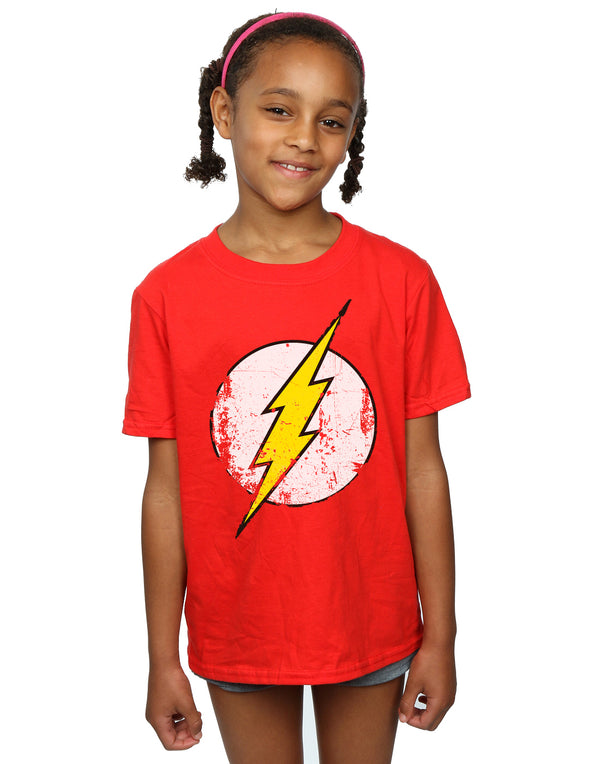 DC Comics Girls Flash Distressed Logo T-Shirt