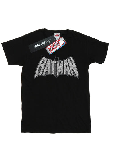 DC Comics Boys Batman Retro Crackle Logo T-Shirt