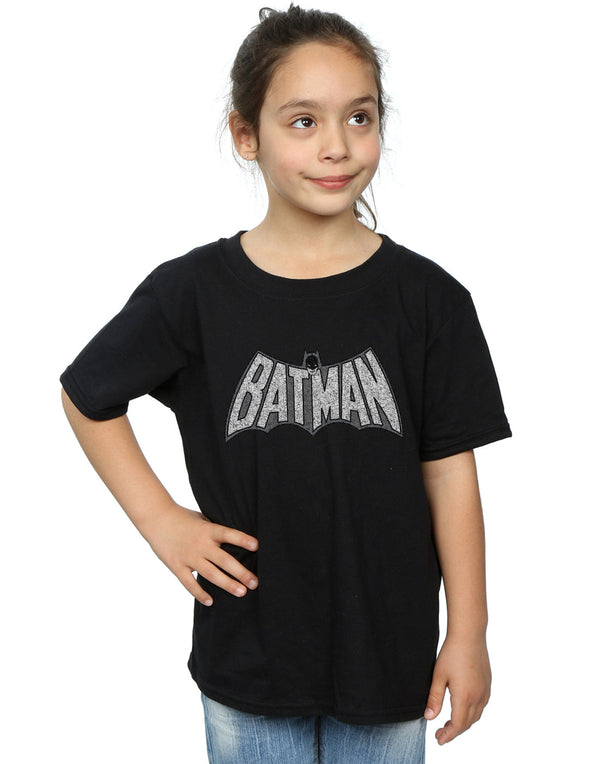 DC Comics Girls Batman Retro Crackle Logo T-Shirt