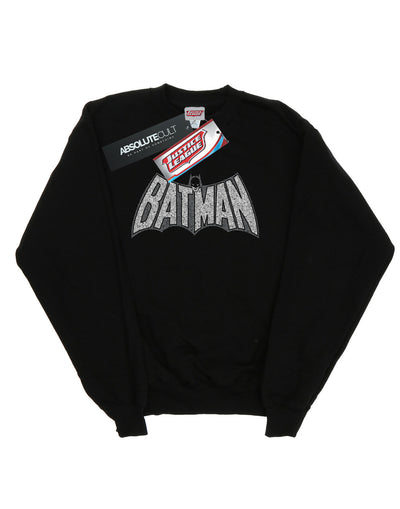 DC Comics Men's Batman Retro Crackle Logo Sweatshirt