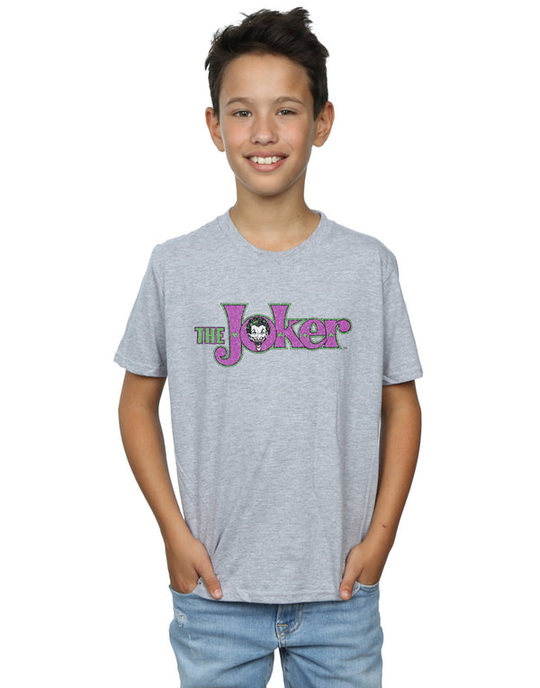DC Comics Boys The Joker Crackle Logo T-Shirt