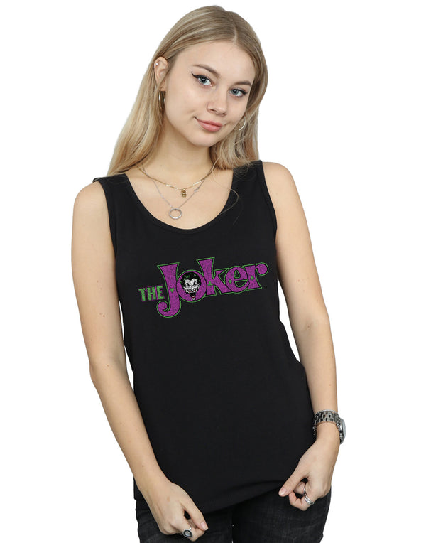 DC Comics Women's The Joker Crackle Logo Vest