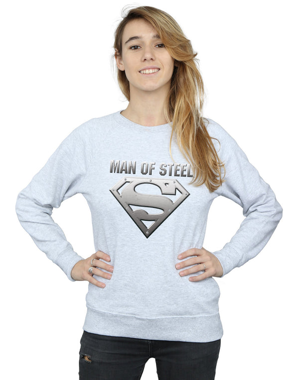 DC Comics Women's Superman Man Of Steel Shield Sweatshirt