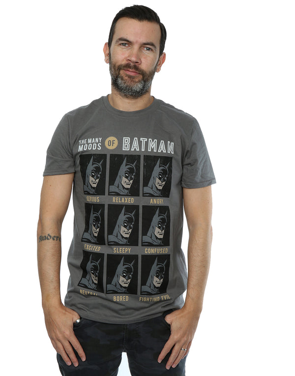DC Comics Men's The Many Moods Of Batman T-Shirt