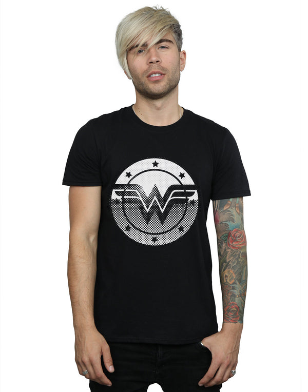 DC Comics Men's Wonder Woman Spot Logo T-Shirt