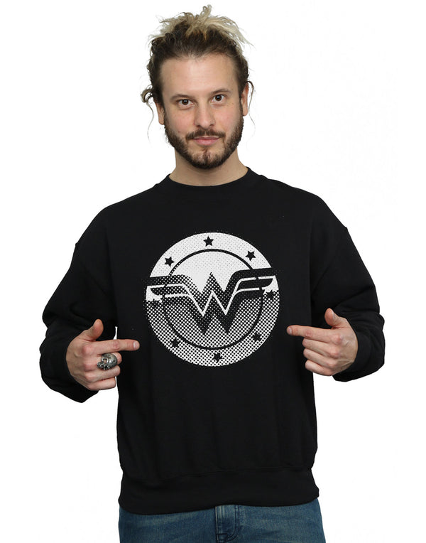 DC Comics Men's Wonder Woman Spot Logo Sweatshirt