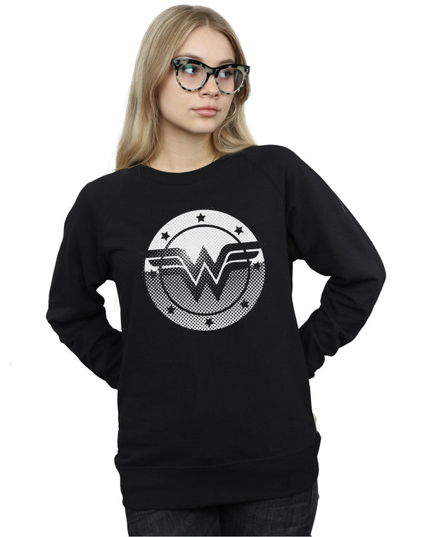DC Comics Women's Wonder Woman Spot Logo Sweatshirt
