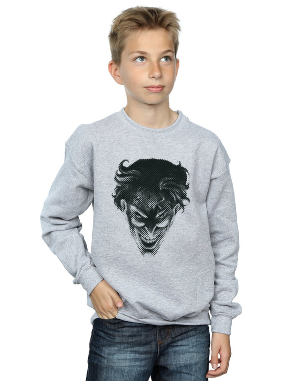 DC Comics Boys The Joker Spot Face Sweatshirt
