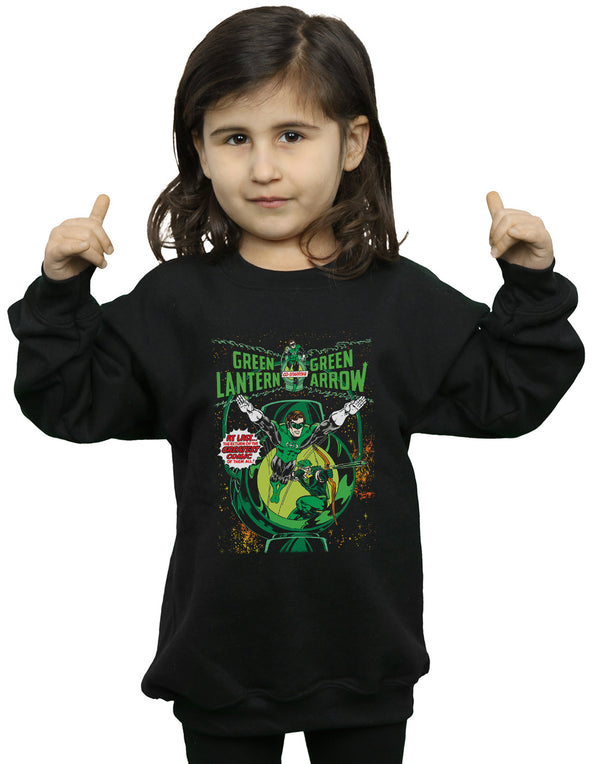 DC Comics Girls Green Lantern Arrow Cover Sweatshirt
