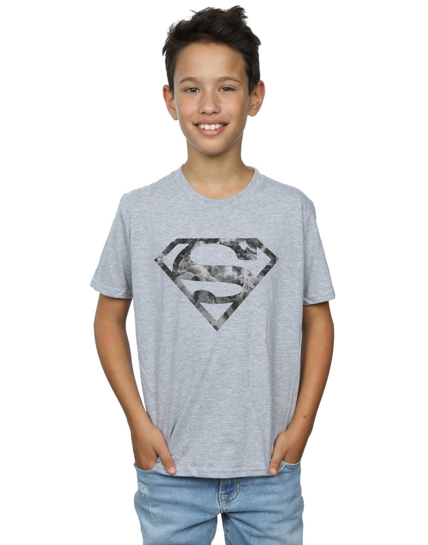 DC Comics Boys Superman Marble Logo T-Shirt