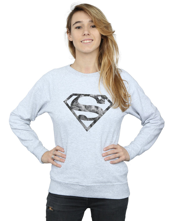 DC Comics Women's Superman Marble Logo Sweatshirt
