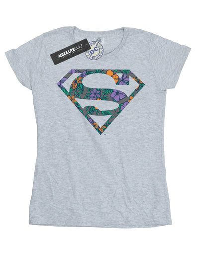 DC Comics Women's Superman Floral Logo 1 T-Shirt