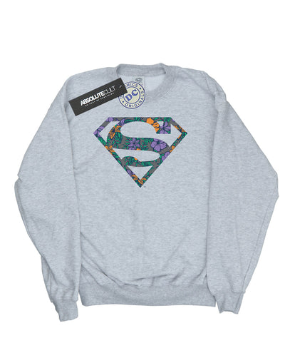 DC Comics Women's Superman Floral Logo 1 Sweatshirt