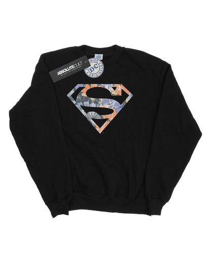 DC Comics Girls Superman Floral Logo 2 Sweatshirt
