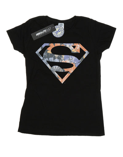 DC Comics Women's Superman Floral Logo 2 T-Shirt