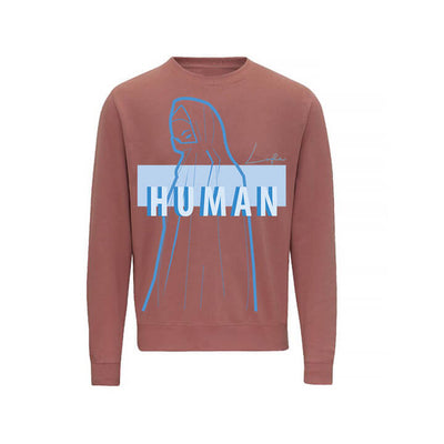 LOFA Human Made Blue Print - Dusty Pink Sweatshirt