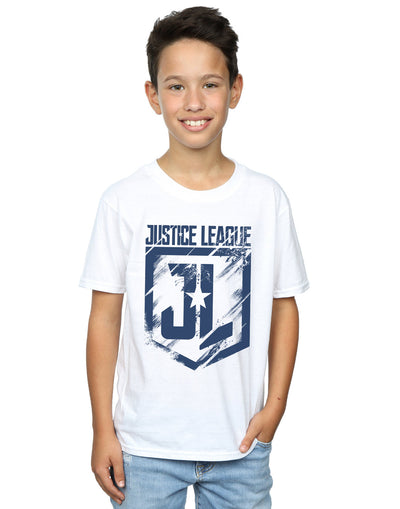 DC Comics Boys Justice League Movie Indigo Logo T-Shirt