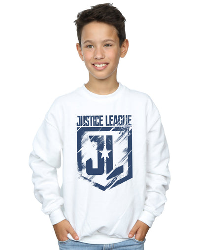 DC Comics Boys Justice League Movie Indigo Logo Sweatshirt