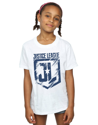 DC Comics Girls Justice League Movie Indigo Logo T-Shirt