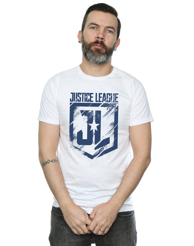 DC Comics Men's Justice League Movie Indigo Logo T-Shirt