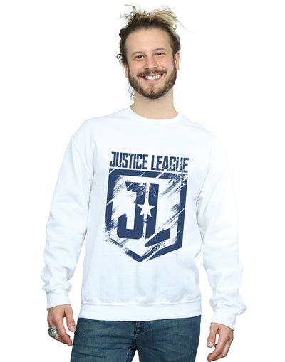 DC Comics Men's Justice League Movie Indigo Logo Sweatshirt