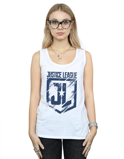 DC Comics Women's Justice League Movie Indigo Logo Vest