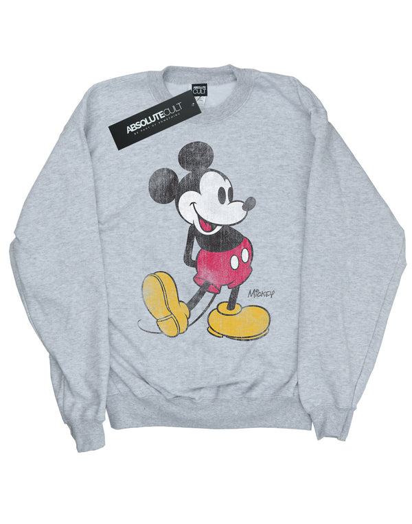 Disney Girls Mickey Mouse Classic Kick Sweatshirt