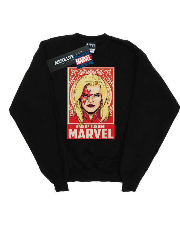 Marvel Boys Captain Marvel Ornament Sweatshirt
