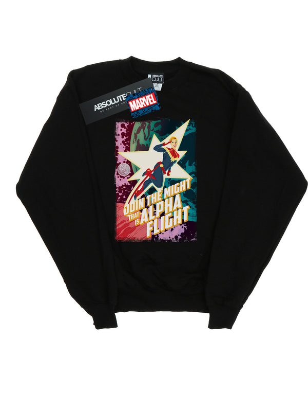 Marvel Men's Captain Marvel Alpha Flight Sweatshirt