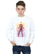 Marvel Boys Captain Marvel Watercolour Sweatshirt