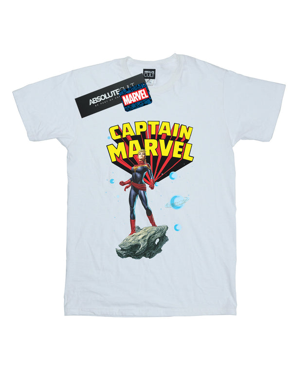 Marvel Women's Captain Marvel Space Pose Boyfriend Fit T-Shirt